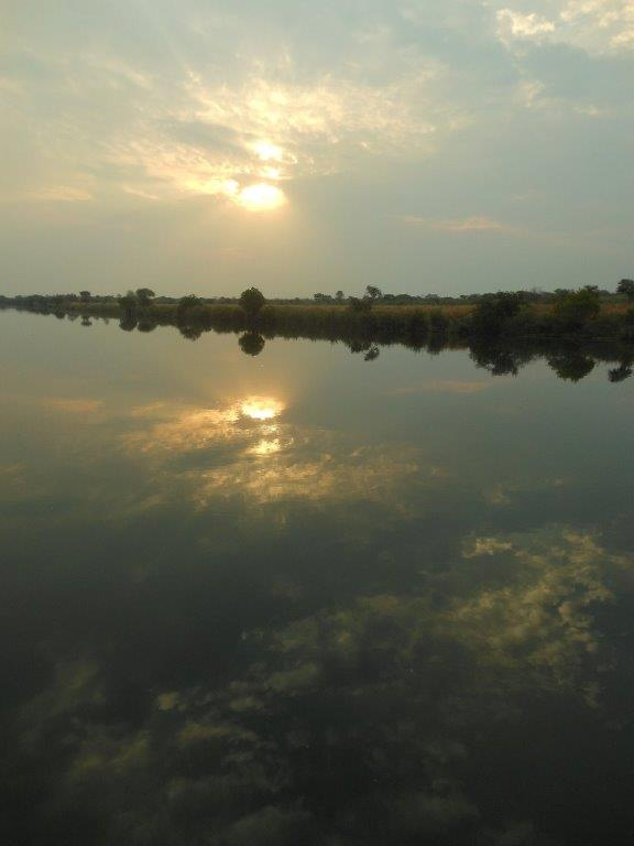 sunset on kafue river